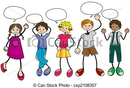 Group Of Friends Talking Clipart.