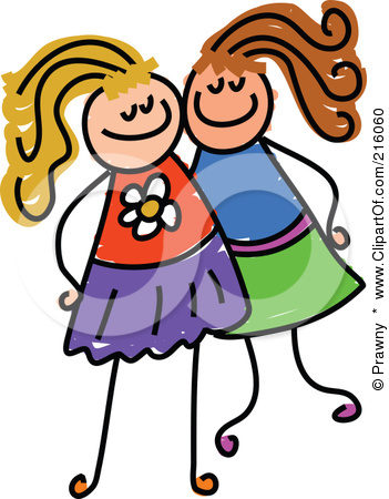 Two Friends Clipart.