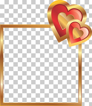 Love Friendship Valentine\'s Day Heart, red frame PNG clipart.