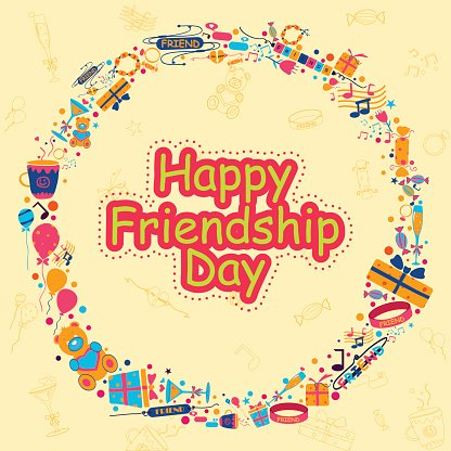 Happy Friendship Day Clipart Image.