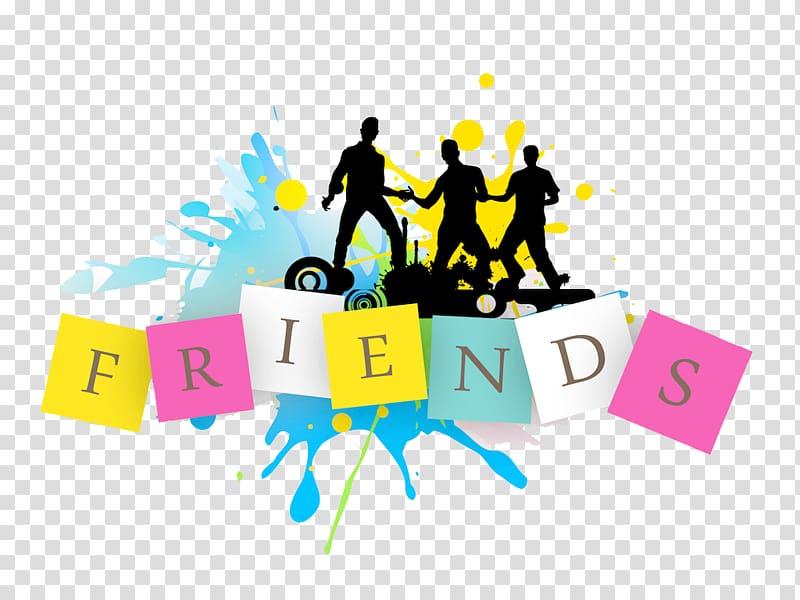 Friends text illustration, Friendship Day Love, Friends.