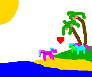 my little pony 2; return to friendship island (drawing by David2890).