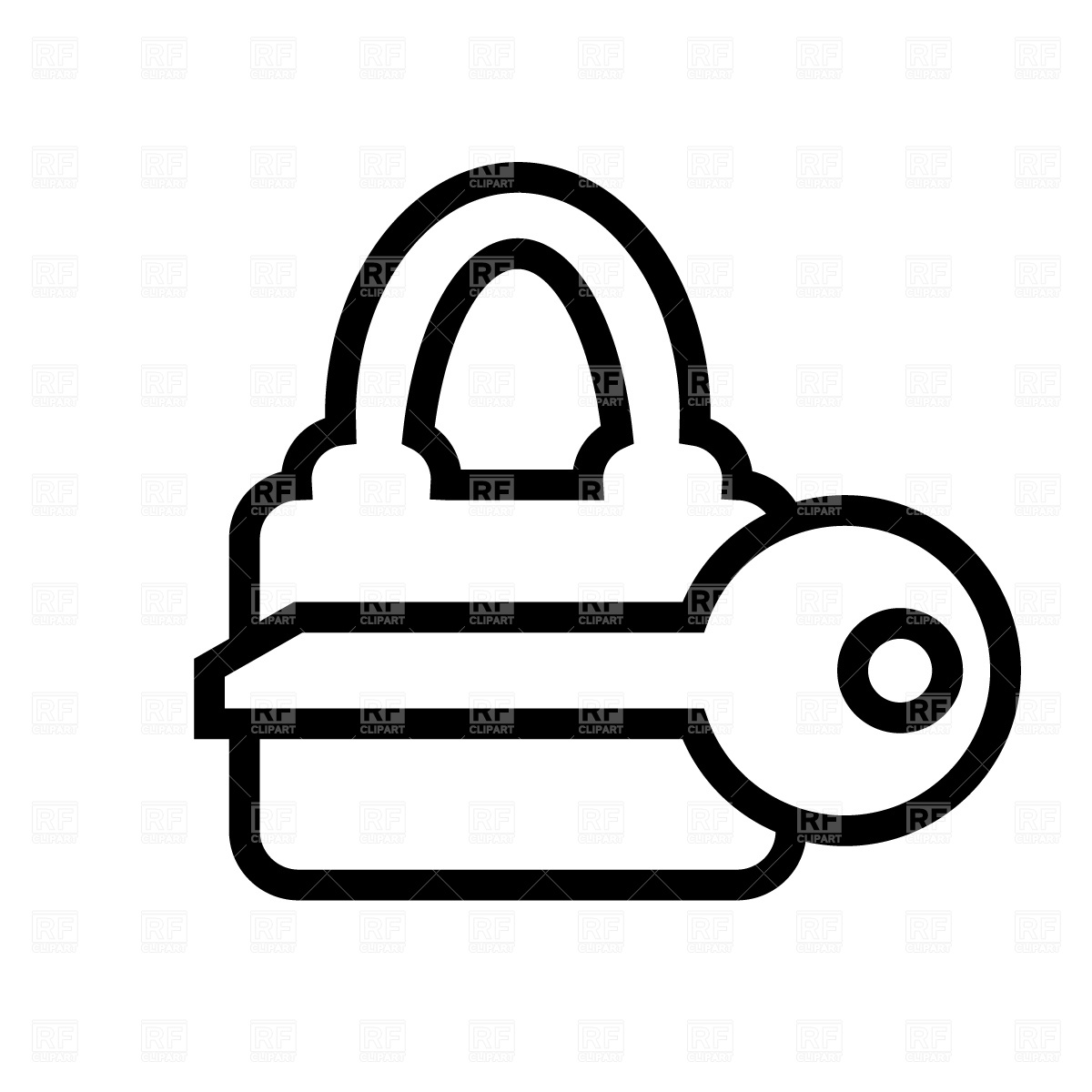 Key to a lock clipart.