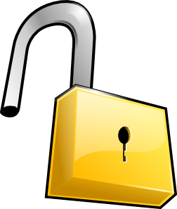Open Lock Clip Art at Clker.com.