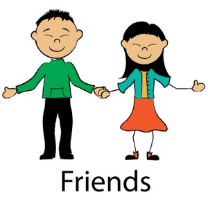 Friendship friend love clipart.