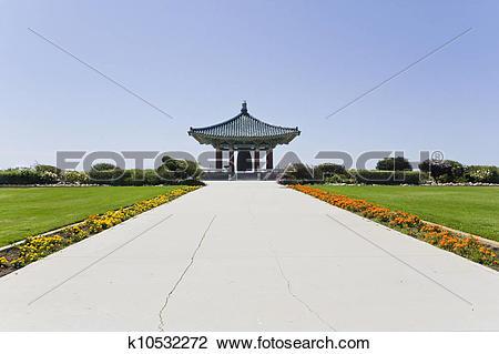 Stock Photo of Korean friendship bell walkway k10532272.