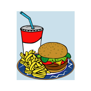 Fries Burger Soda Fast Food clip art.