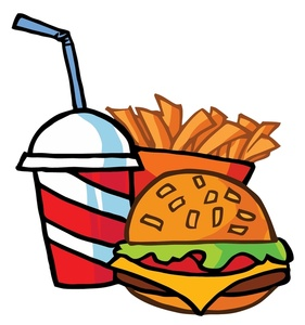 Hamburger And Fries Clipart.