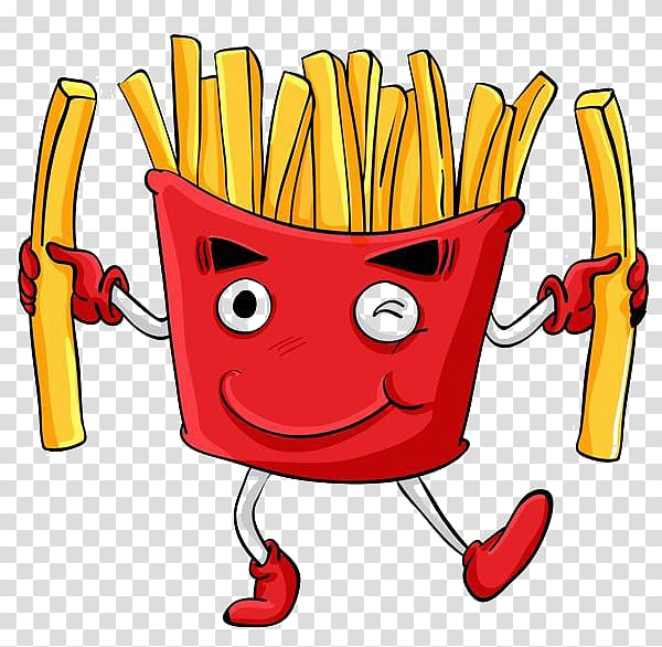 French fries illustration, French fries Fast food Junk food.