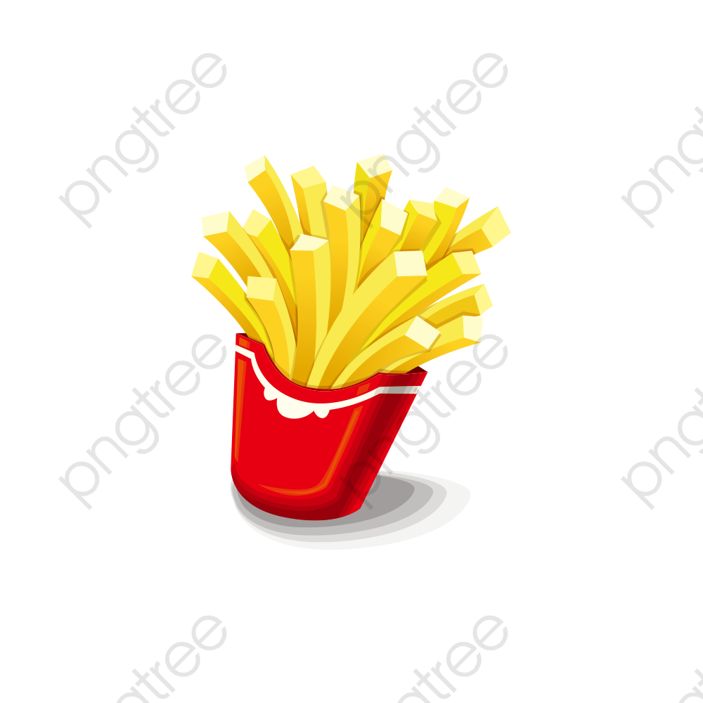 A French Fries, French Clipart, Fries Clipart, Cartoon PNG.