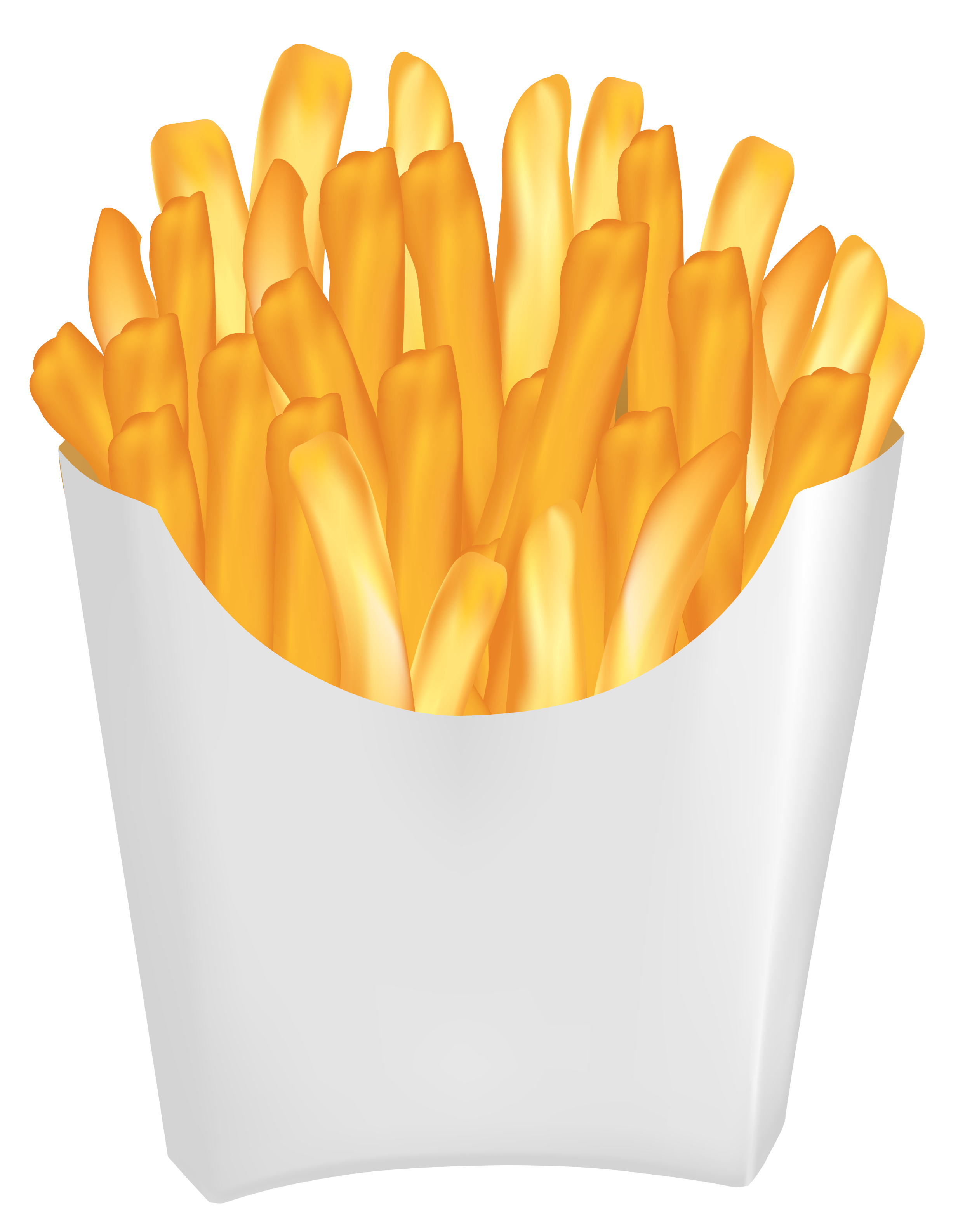 French Fries PNG Vector Clipart Image.