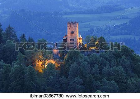 "Stock Photography of ""Burg Geiersberg Castle, Friesach, Carinthia."