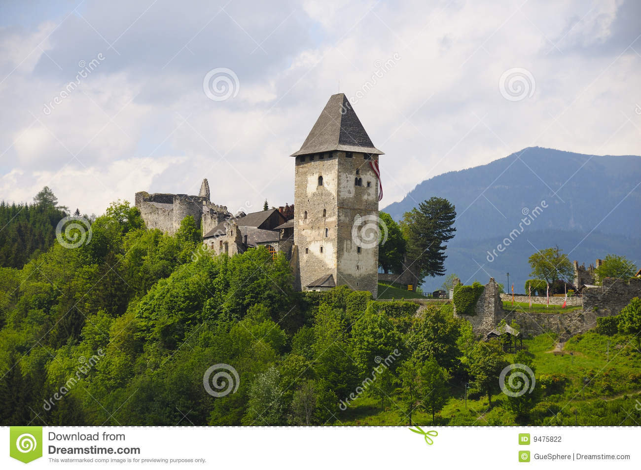 Castle Friesach Stock Photography.