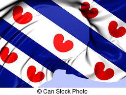 Flag of friesland province netherlands Illustrations and Clip Art.