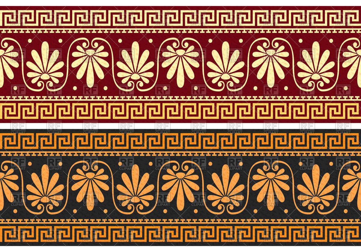 Frieze with slassic Greek ornament (Meander) Vector Image #43916.