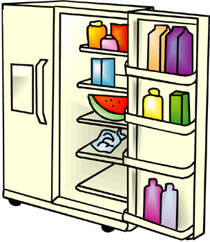 Refrigerator Cleaning Clip Art.