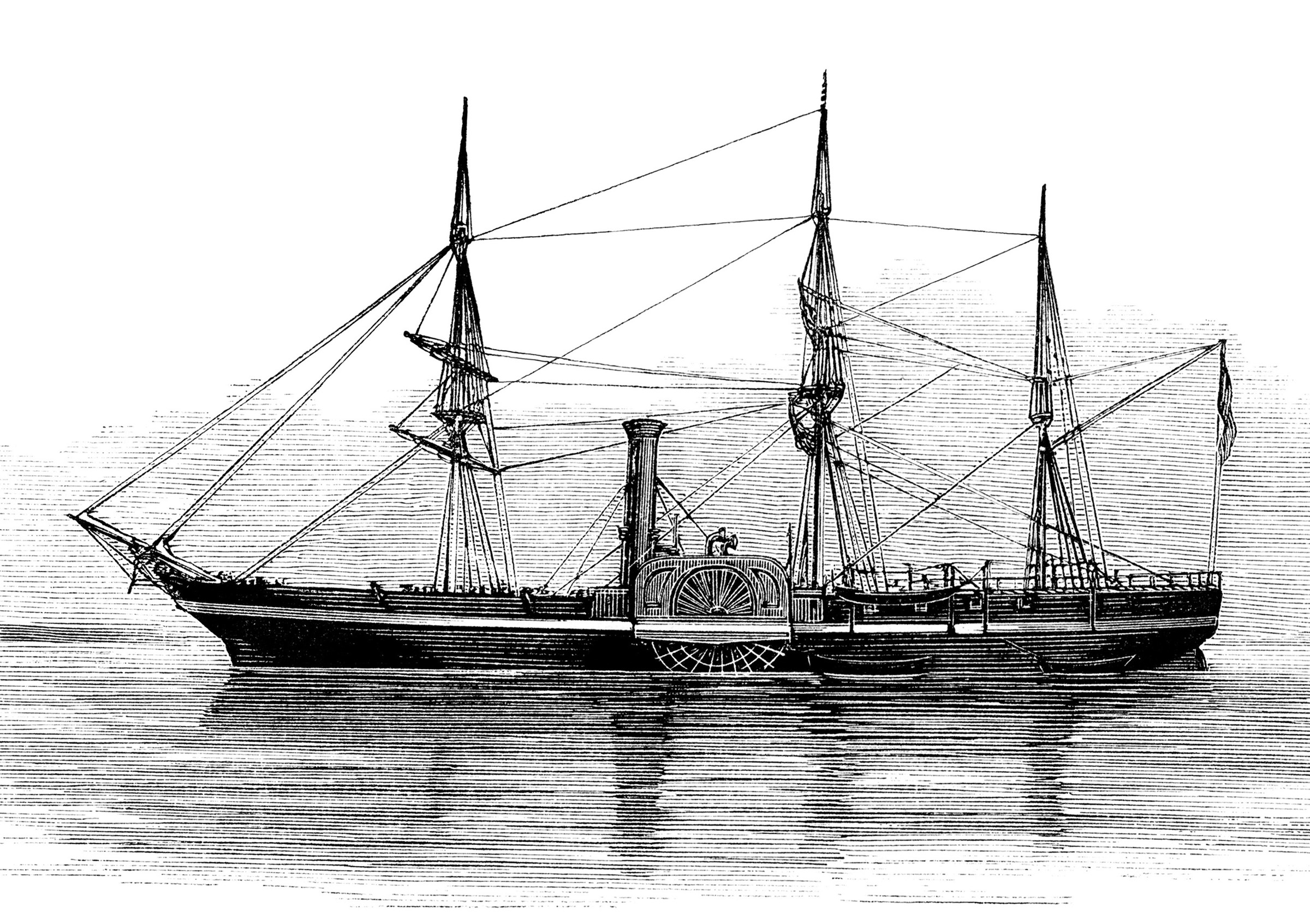 Clip art old sailing ship.
