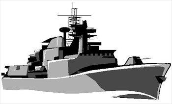 Free frigate Clipart.