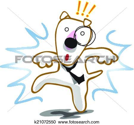 Clipart of Dog frighten interruption k21072550.