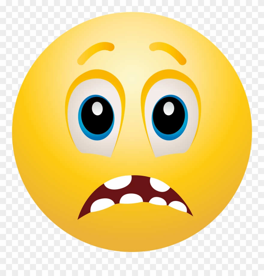 Scared Face Scared Emoticon Clip Art Web Clipart Png.