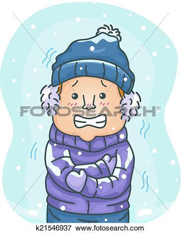 Clipart of Man Shoveling Snow k21547111.
