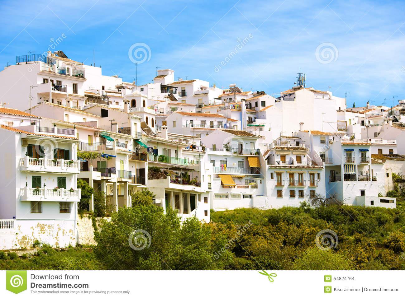 Frigiliana In Andalusia, Spain. Stock Photo.