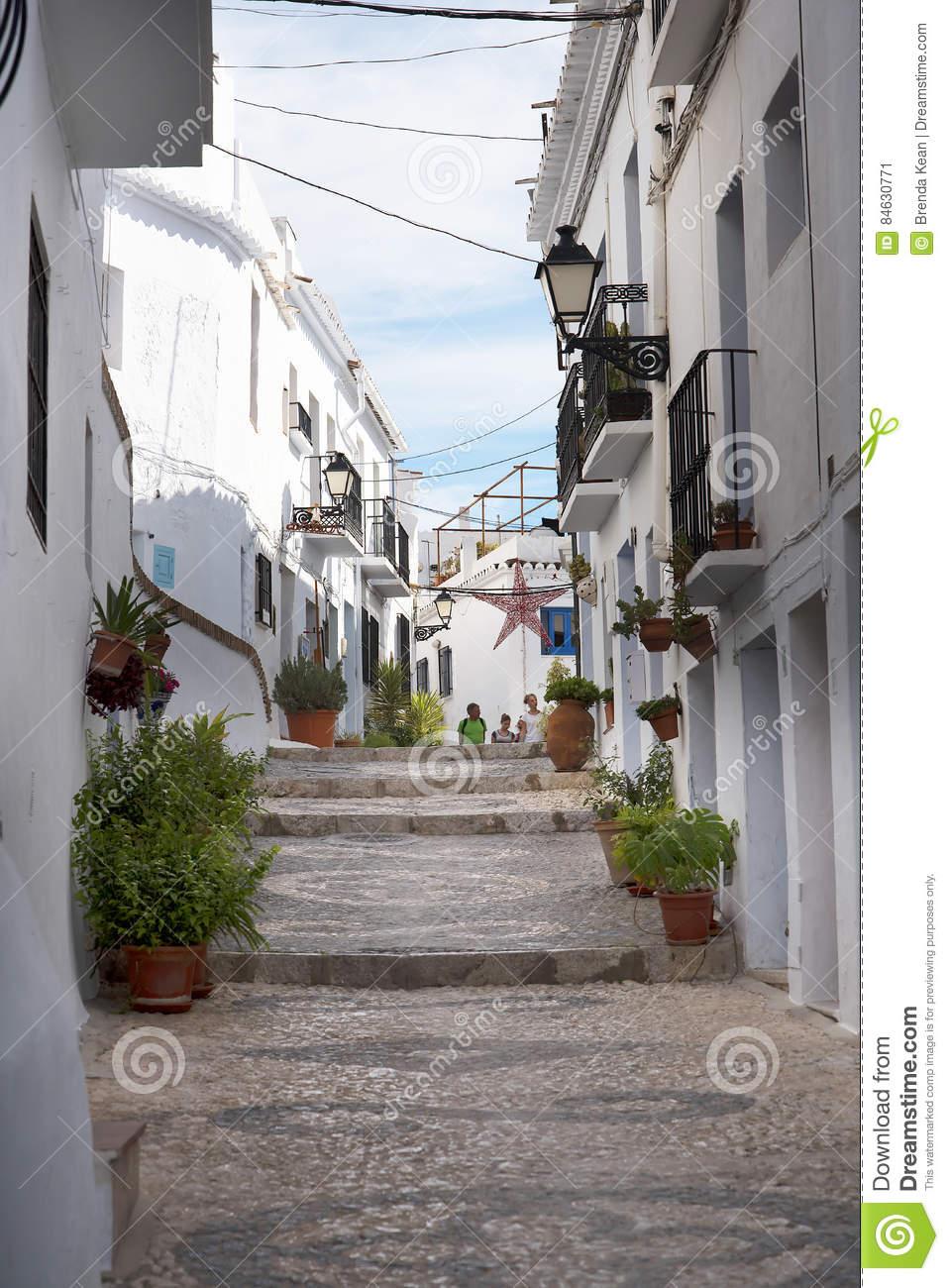 Frigiliana Is An Old Moorish Village Above Nerja On The Costa Del.