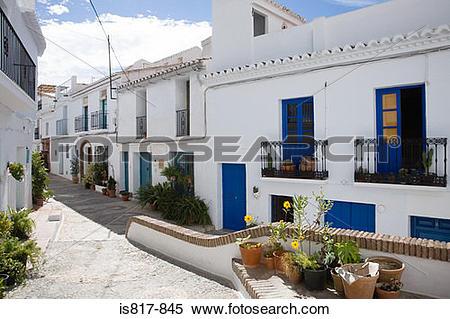 Stock Image of Street in frigiliana spain is817.