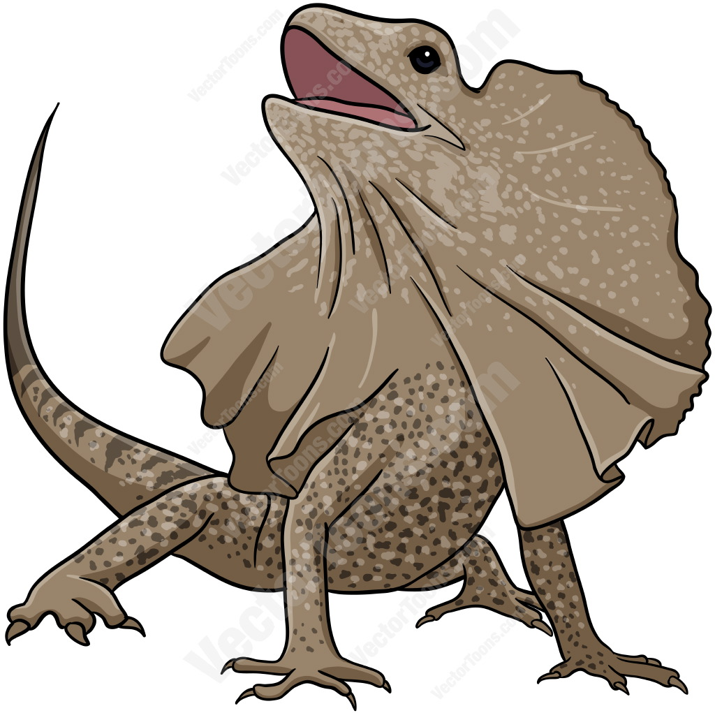 Frill neck lizard clipart.