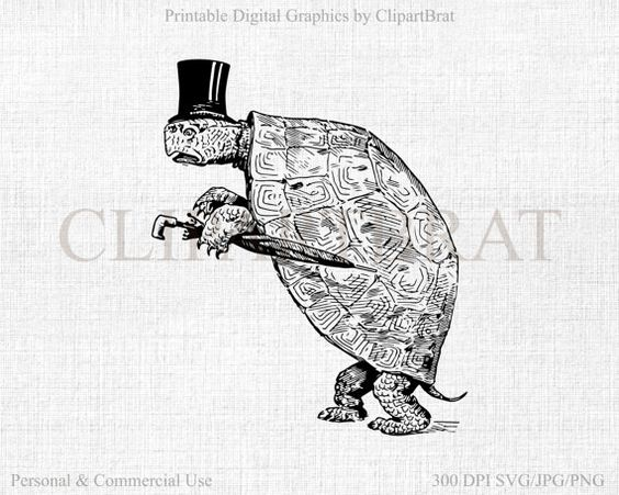 GENTLEMAN TURTLE Clipart Commercial Use Clipart by ClipArtBrat.