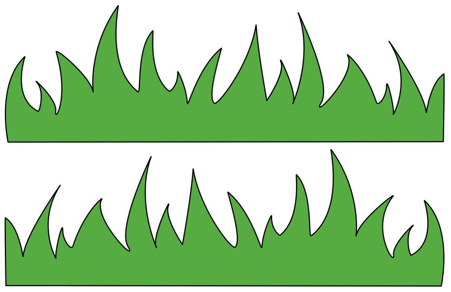 Grass fringe clipart.