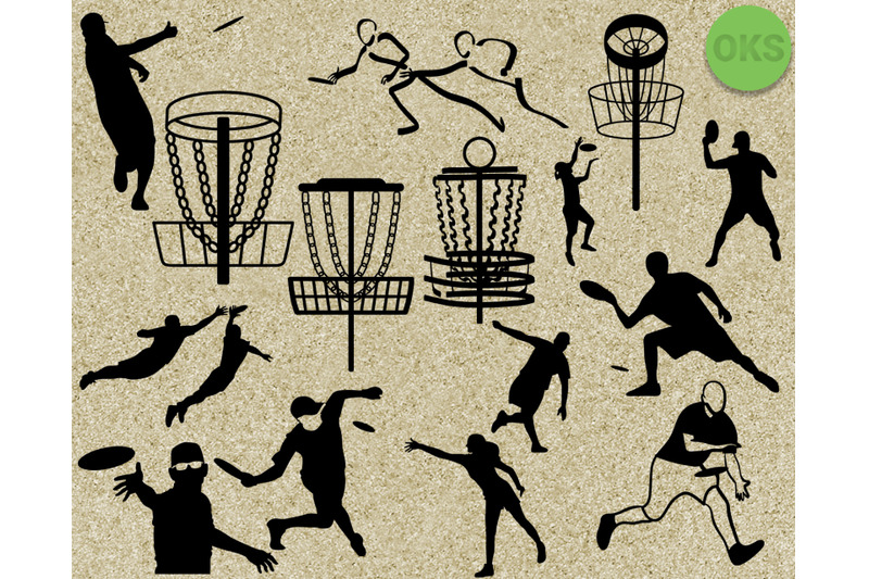 disc golf frisbee svg vector clipart download By CrafterOks.