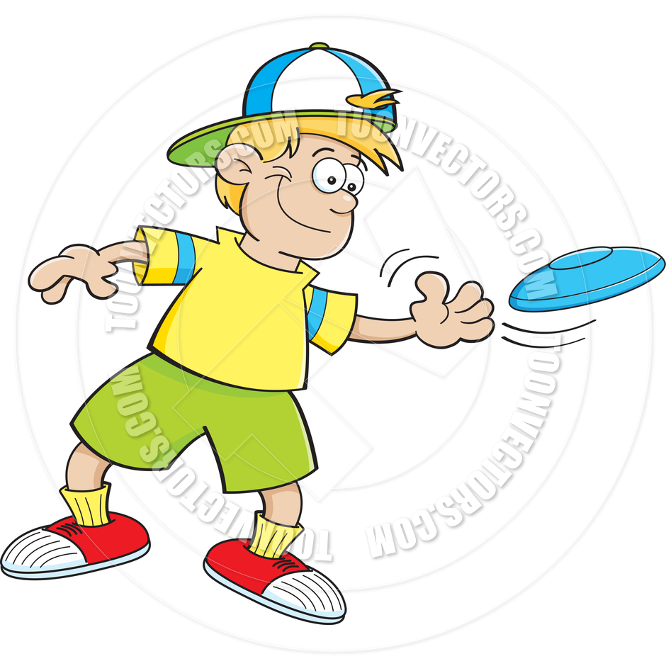 Ultimate Frisbee Champion Clip Art.