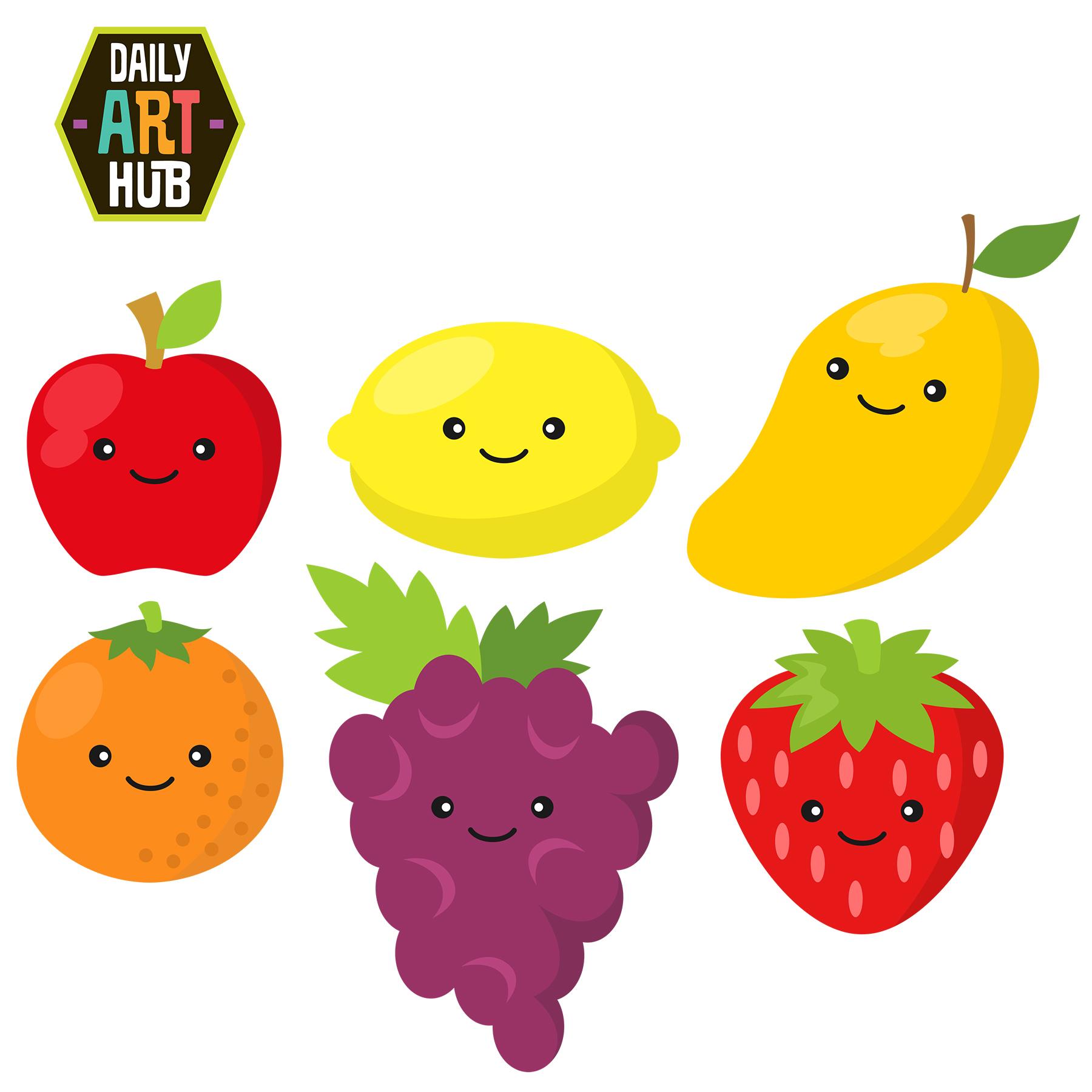 Fruits Clipart.