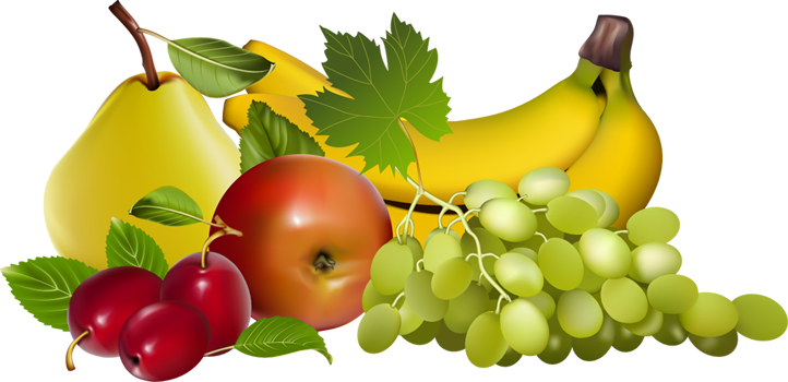 Fruits clipart images.