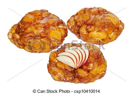 Stock Photography of Apple Fritter Donuts.