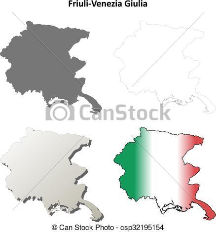 Clipart Vector of Friuli.