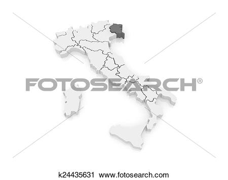Clipart of Map of Friuli.