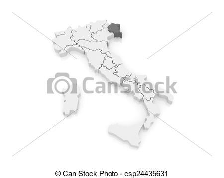 Drawings of Map of Friuli.