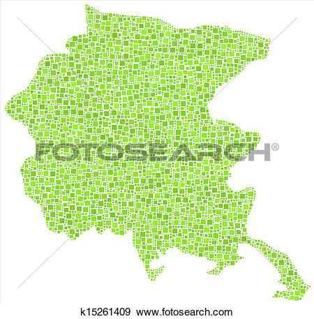 Clip Art of Map of Friuli Venezia Giulia k15261409.
