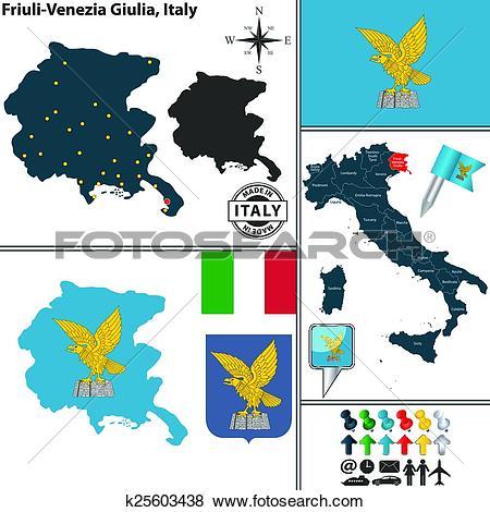 Clip Art of Map of Friuli.