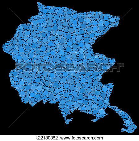 Clipart of Map of Friuli Venezia Giulia k22180352.
