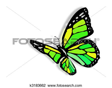 Clip Art of Colorful butterfly k3183662.