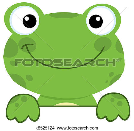 Clipart of Friendly Frog k1968072.