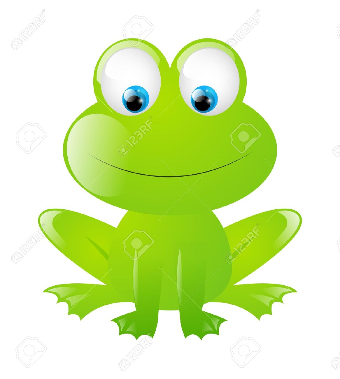 Funny Frog Isolated On White Royalty Free Cliparts, Vectors, And.