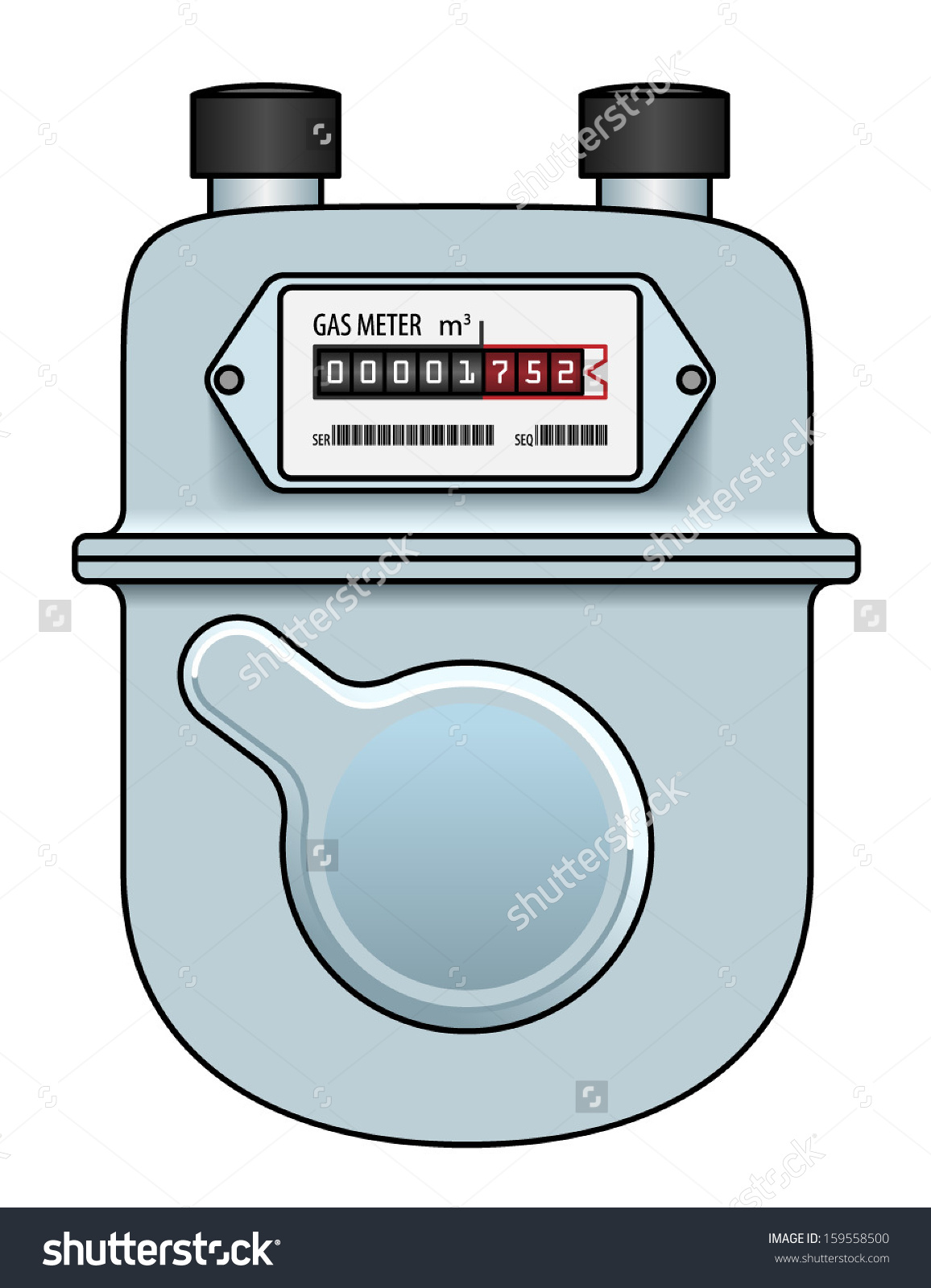 Natural Gas Meter Stock Illustrations & Cartoons.