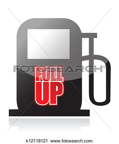 Clipart of pump and the words Fuel Up on its front k12118121.