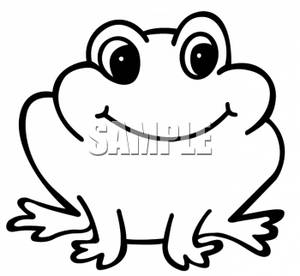 Cute Frog Clip Art Black And White.