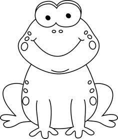 Free Black And White Frog Clipart.