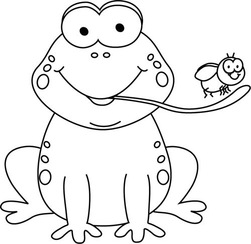 Frog Clipart Black And White.